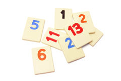 Plastic Number Pieces Royalty Free Stock Photo