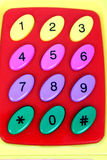 Plastic Numbers Stock Image