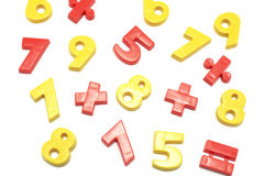 Plastic Numbers. On White Background Stock Photography