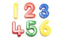Plastic Numbers. On White Background Royalty Free Stock Photo