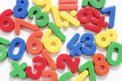 Plastic Numbers. Close Up of Plastic Numbers Stock Images