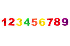 Plastic numbers isolated on white background Stock Photos