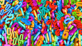 Plastic Numbers Royalty Free Stock Photography