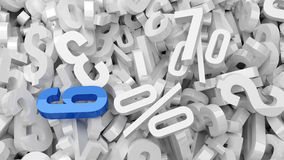 Plastic Numbers Royalty Free Stock Image