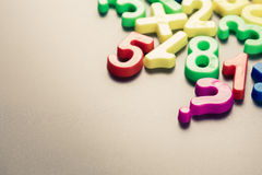 Plastic numbers Stock Photography