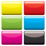 Plastic oblong blank Royalty Free Stock Photography