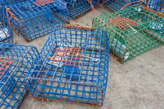 Plastic Octopus and crab traps. Royalty Free Stock Photos