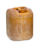 Plastic oil can Stock Image