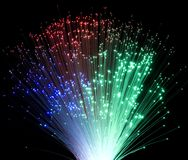 Plastic optical fibers Stock Photos