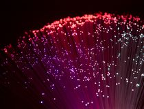 Plastic optical fibers Royalty Free Stock Photography