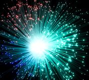 Plastic optical fibers Stock Photography