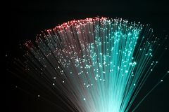 Plastic optische vezels Royalty-vrije Stock Foto's