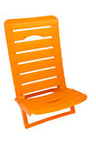 Plastic orange chair Royalty Free Stock Photos