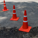 Plastic orange cone Royalty Free Stock Photo