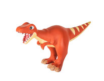 Plastic orange dinosaur toy, megalosaurus Royalty Free Stock Images