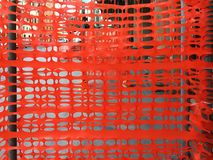 Plastic orange fence. In a construction site stock images