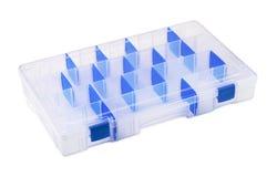 Plastic organiser. Empty plastic tool organiser isolated on white Royalty Free Stock Photo