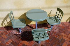 Free Plastic Outdoor Cafe Table And Chairs Stock Images - 69648514