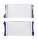 Plastic pack with blue strips Royalty Free Stock Images