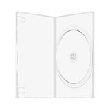 Plastic package for dvd disk, vector template. Isolated on white Stock Photo