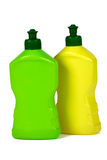 Plastic packaging bottles (isolated) Royalty Free Stock Photography