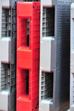 Plastic pallets Stock Images