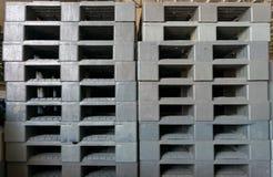 Plastic pallets Royalty Free Stock Photos