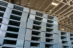 Plastic pallets Royalty Free Stock Images
