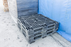 Plastic pallets Stock Photo
