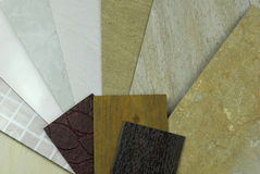 Plastic panels marble samples Royalty Free Stock Image