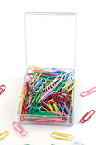 Plastic paper clips Royalty Free Stock Photography