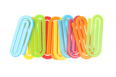 Plastic Paper Clips Stock Photo