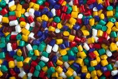 plastic partiklar Arkivfoton