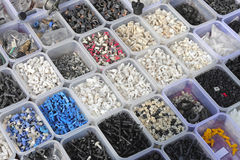 Plastic parts bins Royalty Free Stock Photos