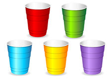 Plastic party cup set Stock Photography