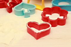 Plastic pastry cutters Royalty Free Stock Images