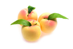 Plastic peach macro Stock Image