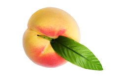 Plastic peach on white macro Stock Image