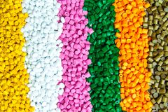 Plastic pellets . Plastic granules after processing .Polymer. Agent background black chemical chemistry extrusion factory grain granulate heap high density stock image