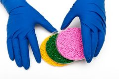 Plastic pellets. Polymeric dye.  Colorant for plastics in the granules.  Royalty Free Stock Photography