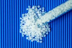 Plastic pellets. Transparent Polyethylene granules. Plastic Raw material .High Density Polyethylene PE-HD. PE-LD. Plastic pellets. Transparent Polyethylene stock images