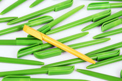 Plastic pens Royalty Free Stock Images
