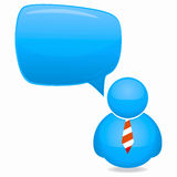 Plastic Person Icon Stock Image