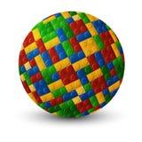 Plastic pieces sphere. Plastic interlock pieces forming a sphere Stock Images