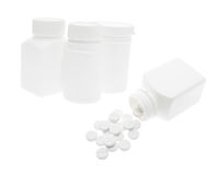 Plastic Pill Bottles and Tablets Stock Photo