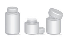 Plastic Pill Pharmacy Bottles Container Vector Set Stock Image