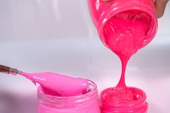 Plastic pink color and hot pink color. Plastic pink color trends discover the world is most popular color stock photo