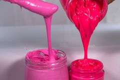 Plastic pink color and hot pink color. Plastic pink color trends discover the world is most popular color stock images