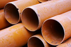 Plastic pipe Stock Image