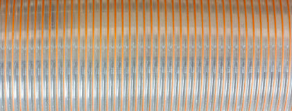 Plastic pipe. The background of the middle portion of the corrugated plastic pipe Royalty Free Stock Photos